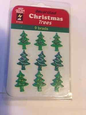 4 PCS tree snowflake bell CHRISTMAS TIME scrapbooking Karen Foster THIN-ments