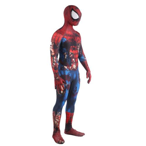 Zombie Spider-Man Jumpsuit Spiderman Cosplay Costume For Adult Kids Halloween