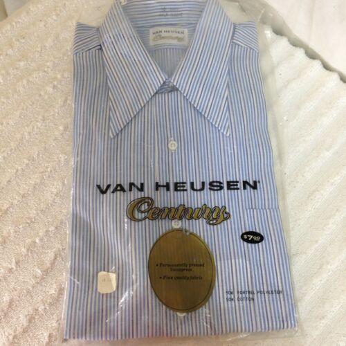 Vintage Van Heusen Ruffle Collar Cream Button Down
