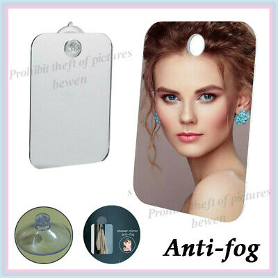 Strong Shatter Proof Anti-Fog,Travel,camping,FREE Hook! Shower Shaving Mirror