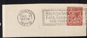 Great-Britain-BRITAIN-INDUSTRIES-FAIR-1927-slogan-cancel-on-piece