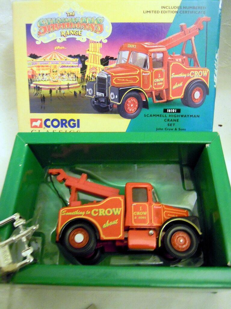 Corgi 16101  Scammell Highwayman Crane Set  J. Crow & Son , 1 50, N E U & O V P