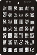 Plaque XL stamping 14,5 X 9,5 rectangulaire pour vernis à ongles konad REF 04