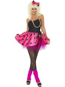 Ladies-Tutu-Kit-Pink-80-039-s-Fancy-Dress
