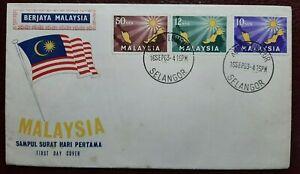 FDC-MALAYSIA-1963-INAUGURATION-OF-MALAYSIA