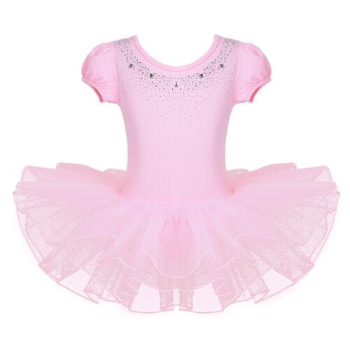 Girls Ballet Ballerina Dance Dress Gymnastics Leotard Tutu Skirt Fairy Costumes