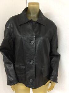 Leather Kvinders Fioretti Jacket Vintage Xl Black Størrelse tnSq8fw