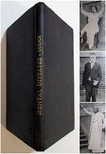 RARE Antique 1918 MENTAL DISEASES Insanity Insane Asylum Psychology Medical Book