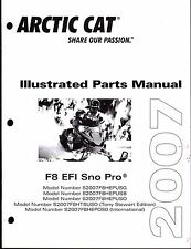 2008 ARCTIC CAT F8 EFI SNO PRO SNOWMOBILE PARTS MANUAL NEW P/N 2257-746 (421)