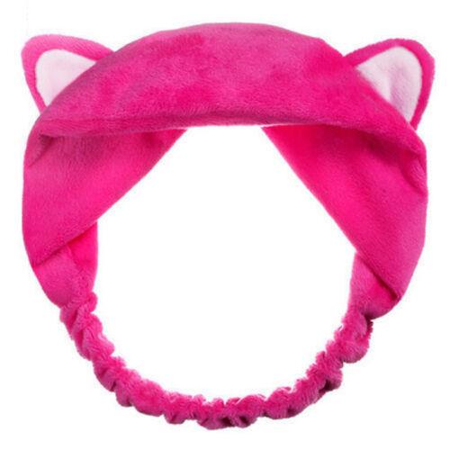 Cute Cat Ears Hairband Head Band Wash Face Clean Spa Headdress Hair Makeup Tools