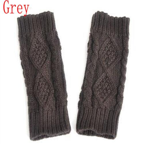 Vogue Women Winter Wrist Arm Hand Warmer Knitted Long Fingerless Gloves Mitten