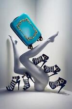 ANNA DELLO RUSSO AdR for H&M platform sandals black leather rhinestones NEW 8/39