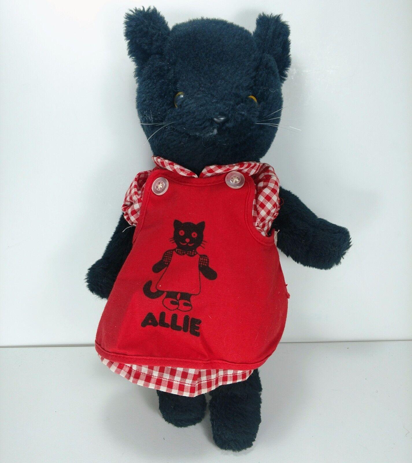 Vintage SS Happiness Crew Allie Cat Plush Plush Plush 11  Stuffed Kitten 1979 June Dutton 005104