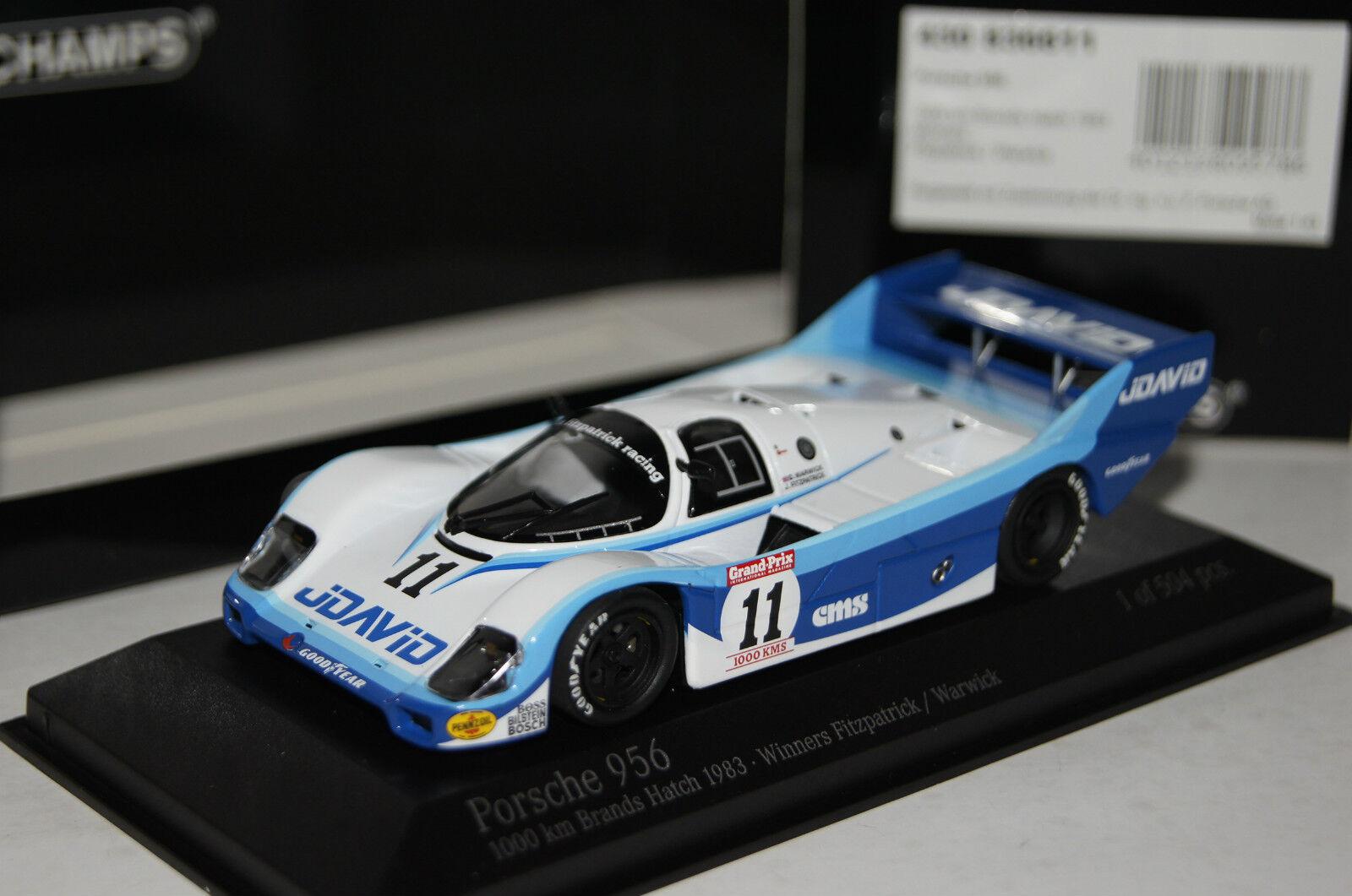 Porsche 956k winner Brands Hatch 1983  43 Minichamps nuevo & OVP 430836611