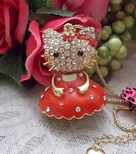f833e1455 BETSEY JOHNSON LIMITED MISS CHRISTMAS KITTY IN A RED DRESS PENDANT ...