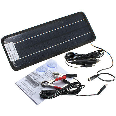 12V 4.5W Portable Power Solar Panel Battery Charger Fit Automobile Car Boat