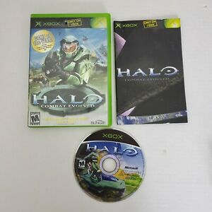 Bungie-XBOX-HALO-Combat-Evolved-Rated-Mature-M-Shooter-Video-Game-Complete