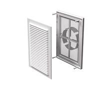 Rejilla de Ventilación de Aire Cubierta Conducto De Ventilación Blanco 250x180mm 100-150mm (MV 125 VDS)
