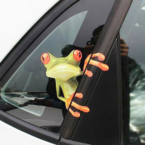 1PC Car SUV Window 3D Peep Frog Funny Decorative Vinyl Decal Graphics Sticker