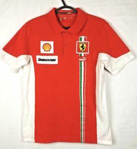 9ee64f64e99602 Mens Puma Ferrari Polo Shirt Red Scuderia L XL Bridgestone Shell F1 ...