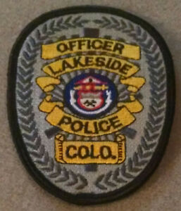 Officer Lakeside Police Colo. Amusement Park Embroidered Patch Free Shipping