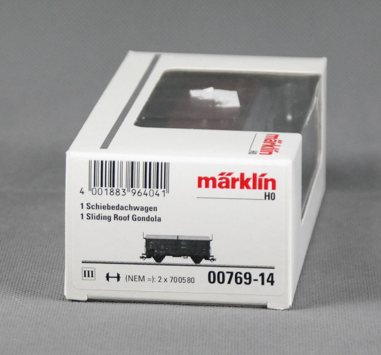 """MÄRKLIN  00769-14  Schiebedachwagen  /""""H0/""""  OVP !"""