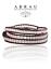Pink-Rose-Quartz-Gemstone-Brown-Leather-3-Wrap-Boho-Beaded-Adjustable-Bracelet