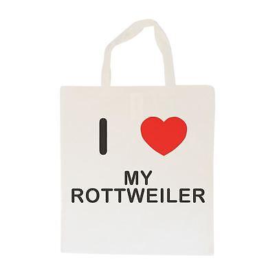 Amo Il Mio Rottweiler-borsa In Cotone | Taglia Scelta Tote Shopper, O Sling-mostra Il Titolo Originale Forte Imballaggio