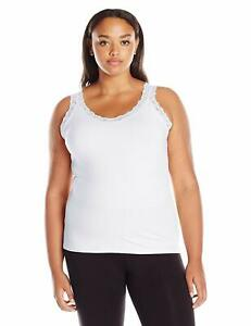 JMS Stretch Jersey Lace Trim Tank OJ314