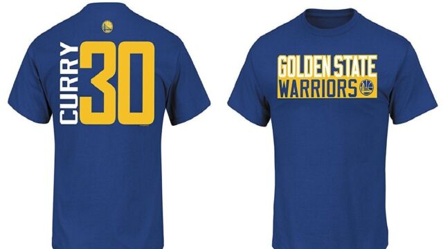 new arrivals c7dd4 027e6 Stephen Curry Golden State Warriors Blue Jersey Name and Number T-shirt