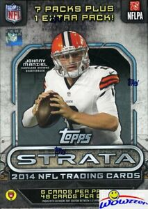 2014-Topps-Strata-Football-EXCLUSIVE-Factory-Sealed-Blaster-Box-ONYX-PARRALEL