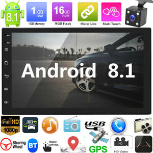 2Din-7in-Android-8-1-GPS-Navi-WiFi-Quad-Core-Car-Stereo-MP5-Player-FM-Radio-Cam