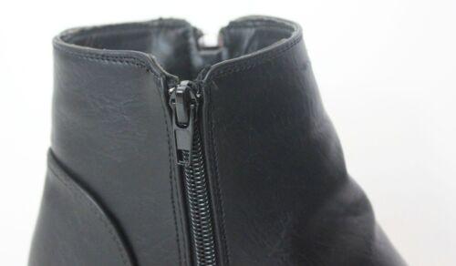 Womens Dr Keller Black Burgundy Zip Winter Ankle Wedge Boots Ladies Shoes Size