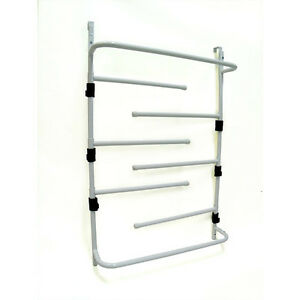over door clothes dryer towel drying rack bathroom with adjustable swing arms 9320682006208 ebay. Black Bedroom Furniture Sets. Home Design Ideas