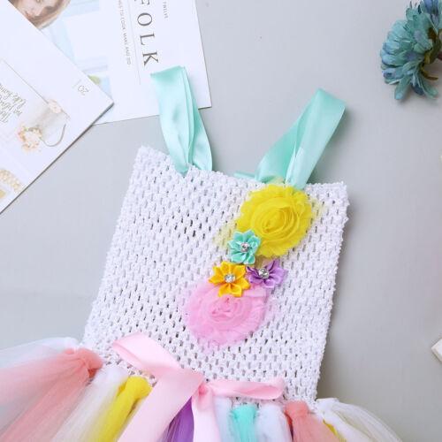 Kid Girls Princess Fancy Tutu Dress Costumes Headband Cosplay party Dress up