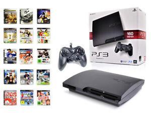 SONY-PS3-Konsole-160GB-SLIM-NEUEN-Subsonic-Controller-Spielkonsole-1-Spiel