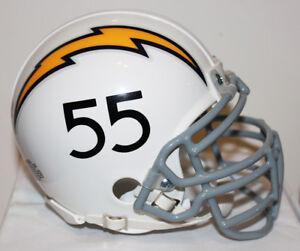 super popular fdb25 8bb75 Details about Junior Seau San Diego Chargers Throwback Riddell Custom Mini  Helmet