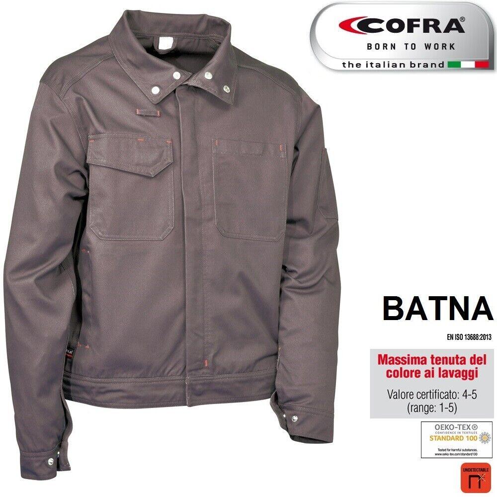 Immagine 5 - Giacca-da-lavoro-COFRA-modello-BATNA-100-cotone-300-g-m-edilizia-industria