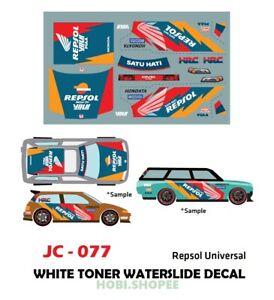 Jc 9077 White Toner Waterslide Decals Reps0l Uni For Custom 1 64 Diecast Cars Ebay