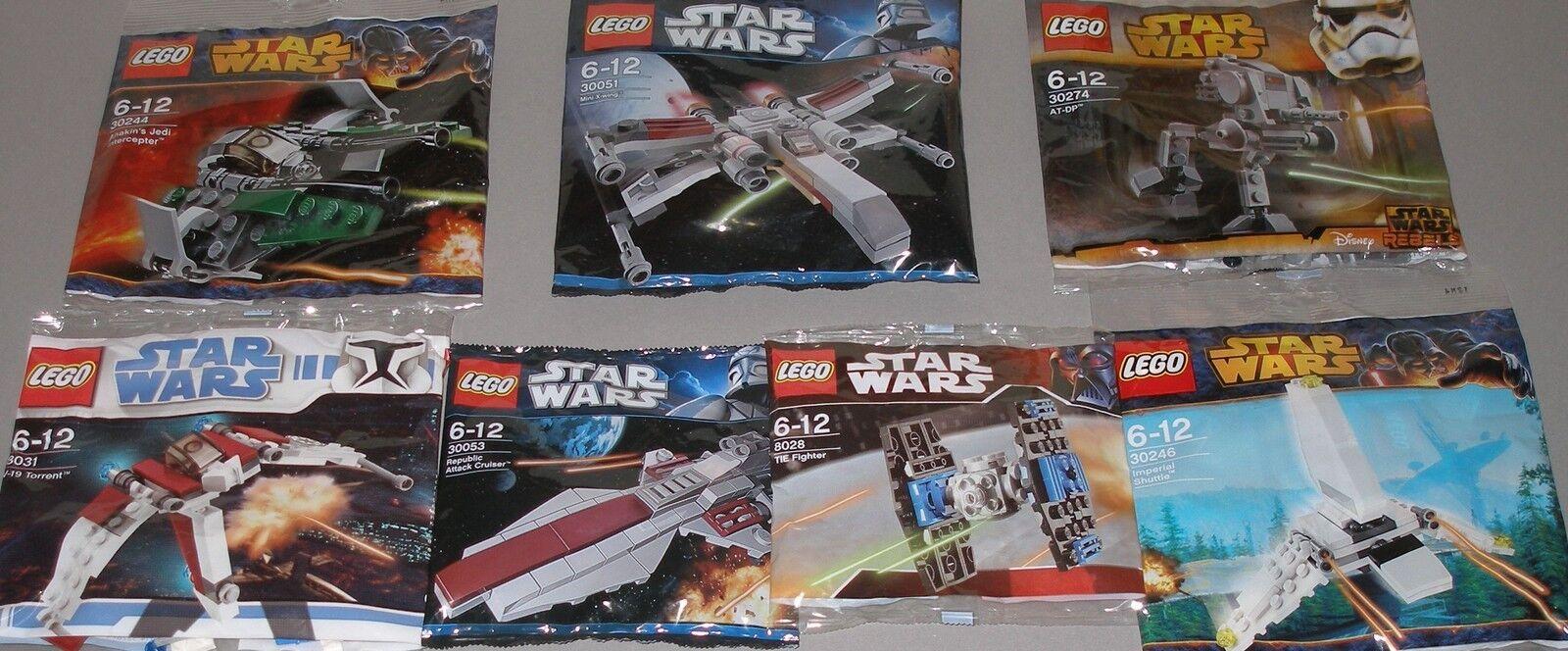 7x LEGO STAR WARS  6 différents vaisseaux spatiaux  combat coureur AT-DP neuf dans sa boîte
