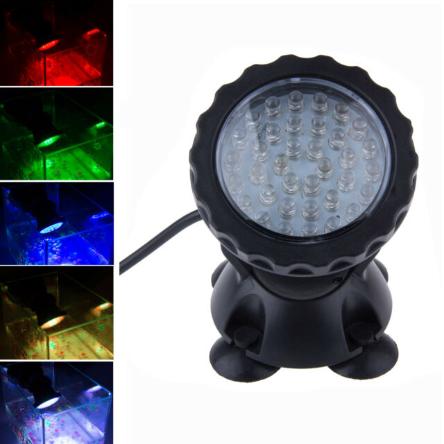 Multicolor 36 LED Underwater Spot Light For Water Aquarium Garden Pond Fish Tank
