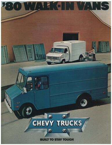 1980 Chevrolet Step Van Trucks Sales Brochure Original
