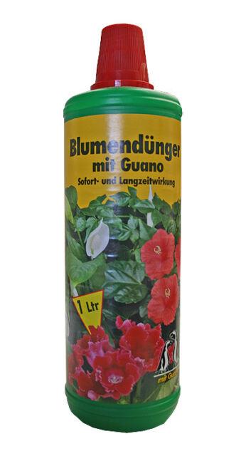 NPK Blumendünger mit GUANO 1 L Flasche Naturdünger Gartendünger Flüssigdünger