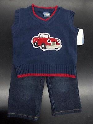 Boys' Clothing (newborn-5t) 18/24 Months Infant Boys Sweet & Soft 2pc Sweater Vest Set Size 6/12 Months