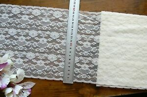 Polyester-IVORY-Floral-Lace-3-6-Metre-Length-Extra-Wide-200mm-Wide-Flt1