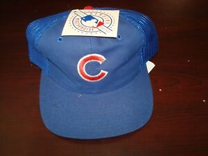 e6d22183 Image is loading CHICAGO-CUBS-TRUCKER-MESH-DPE-SCRIPT-NEW-VINTAGE-