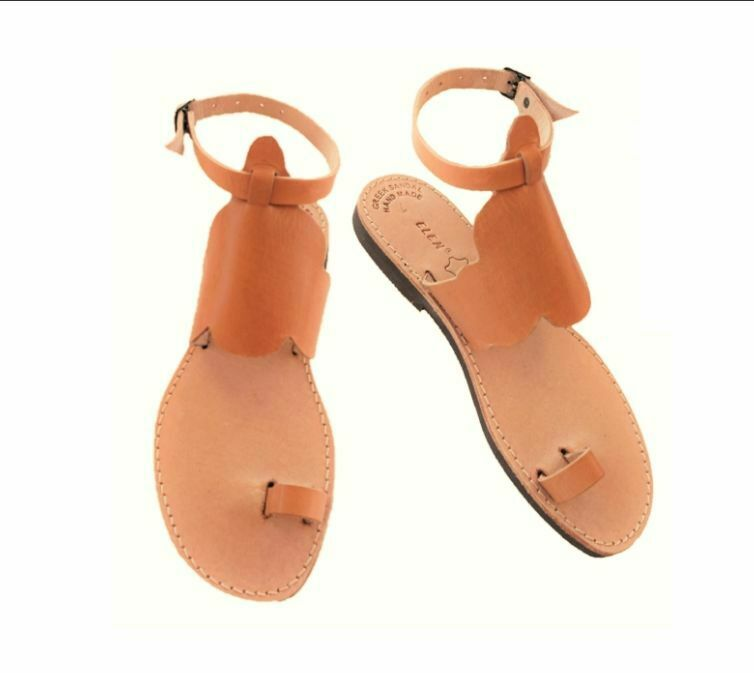 Ancient Greek Style Womens Sandals Genuine Leather Gladiator Spartan Roman shoes