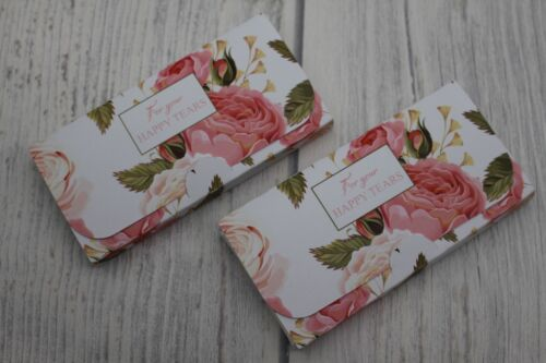 Personalised pocket tissues wedding favour-Roses-Happy Tears