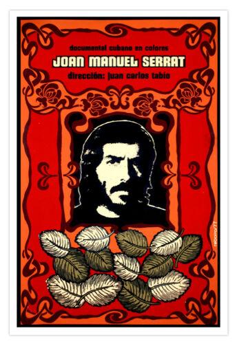 "Spanish decor Graphic Design movie Poster/""JOAN Manuel Serrat/""Music film.Art"