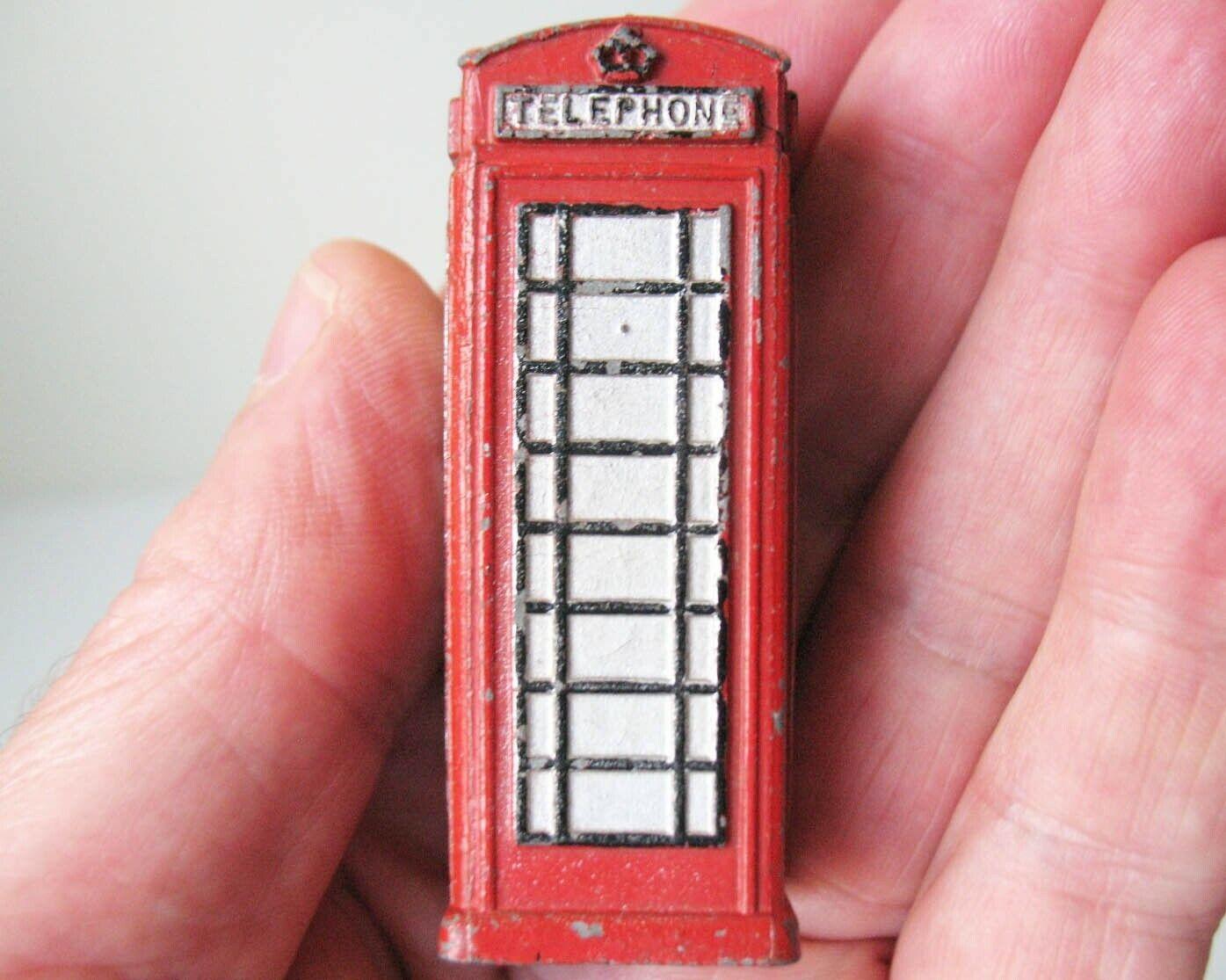 tiendas minoristas Dinky Juguetes No.12c No.12c No.12c Caja De Teléfono Rojo Muy Raro 1938-41 antes de la guerra sólo bueno  despacho de tienda